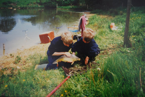 Fishing for 'sagging belly' Carp as kids