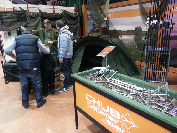 Ian Gemson talking to customers on the Chub stand