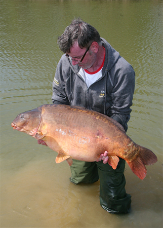 Careful observation and knowing the time I could expect a bite resulted in this cracking 39lb male Carp.